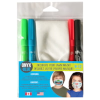 Décorez votre propre masque Onyx+ Blue, 9-12 ans