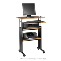 Safco Muv Stand-Up Height-Adjustable Workstation, Cherry, 29 1/2