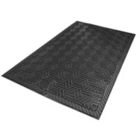 M+A Matting 5558 SuperScrape Plus Entrance Mat, Black, 3' x 5'