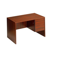 Global Genoa Mahogany Single-Pedestal Desk