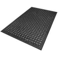 M+A Matting 420 Comfort Flow Anti-Fatigue Mat, Black, 4' x 6'