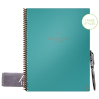 RocketBook Fusion Letter-Size Notebook, Neptune Teal, 8 1/2