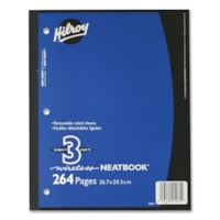 Hilroy Neatbooks Three Subject Notebook
