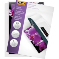 Fellowes Glossy Pouches - Photo, 3 mil, 25 pack