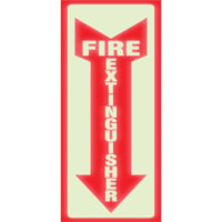 HeadLine Glow Fire Extinguisher Sign