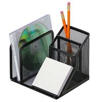 Range-tout de bureau à 5 sections en mailles noires Grand & Toy