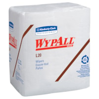 WypAll L20 4-Ply 1/4 Fold Kraft Paper Wipers, White, 816 Wipers/CS