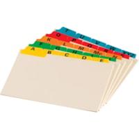 Oxford A-Z Coloured Tab Manila Card Guides