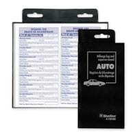 Blueline Bilingual Auto Record Book