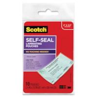 Scotch Self-Sealing Gloss Finish Laminating Pouches