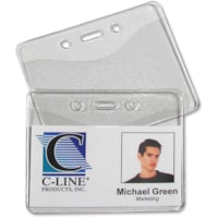 C-Line Horizontal Heavy Duty Badge Holder