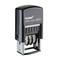 Trodat Printy 4850 Self-Inking Mini Dater With Text