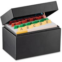 Steelmaster Heavy-duty Steel Card File Box
