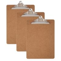 Office Depot Wood Clipboards, Letter Size, 3/PK