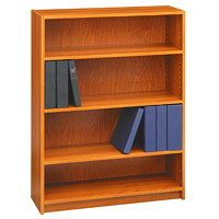 Global Genoa Series 4-Shelf Bookcase, Avant Honey, 36