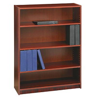 Global Genoa Series 4-Shelf Bookcase, Mahogany, 36
