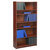 Global Genoa 6-Shelf Bookcase, Mahogany