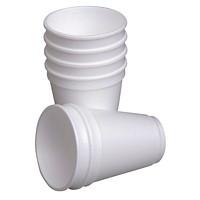 Café Express Foam Cups, White, 7 oz., 100/PK