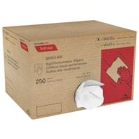 Chiffons Tuff-Job à haut rendement Cascades PRO, série 600, 1 épaisseur, en vrac, blanc, boîte de 250