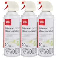 Office Depot Cleaning Air Dusters, 10 oz, Pack of 3