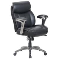 Fauteuil de direction à dossier moyen Siena Smart Layers Serta®, assise et dossier en cuir lié