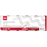 Office Depot Jumbo Paper Clips, Non-Skid, Silver, 4