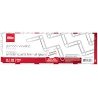 Trombones antidérapants format géant 4 po Office Depot®, argent, boîtes de 100, emb. de 10