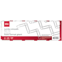 Office Depot Jumbo Paper Clips, Smooth, Silver, 4