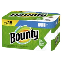 Bounty 2-Ply Select-A-Size Paper Towels 12=18, White, 74 Sheets/RL, 12/PK