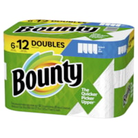 Bounty 2-Ply Select-A-Size Paper Towels 6=12, White, 98 Sheets/RL, 6/PK