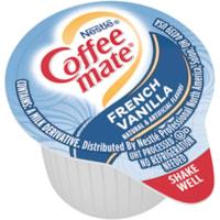 Nestlé Coffee-Mate Liquid Single-Serve Coffee Whitener, French Vanilla, 11 mL, 180/CT