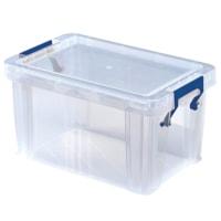 Bankers Box Plastic Storage Box, Clear, Small/1.7 L