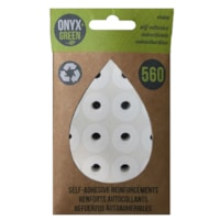 Onyx + Green Self-Adhesive Reinforcement Round Label Rings, White, 560/PK