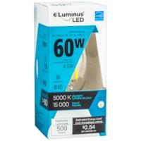 Ampoules à DEL Luminus LED, B10, 4.5 W, intensité réglable, lumière du jour, caisse de 6