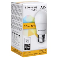 Luminus LED Lightbulb, A15, 5.5W, Non-Dimmable, Warm White, 12/PK