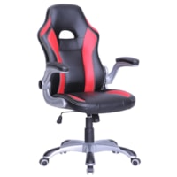 TygerClaw Executive Mid-Back Gaming Style Office Chair, Black and Red