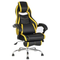 TygerClaw Executive High-Back Office Chairs, Black/Yellow, PU Leather