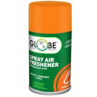 Globe Commercial Products Air-Pro Metered Spray Air Freshener Refill Aerosol Spray, Mango, 180 g, 12/CT