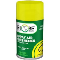 Globe Commercial Products Air-Pro Metered Spray Air Freshener Refill Aerosol Spray, Citrus, 180 g, 12/CT