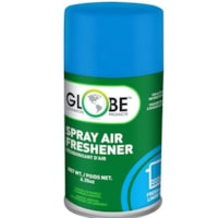 Globe Commercial Products Air-Pro Metered Spray Air Freshener Refill Aerosol Spray, Linen Fresh, 180 g, 12/CT