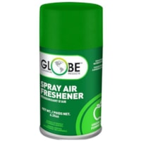 Globe Commercial Products Air-Pro Metered Spray Air Freshener Refill Aerosol Spray, Green Apple, 180 g, 12/CT