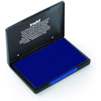 Trodat 9052 Re-Inkable Felt Stamp Pad, Blue Ink, 4 5/16