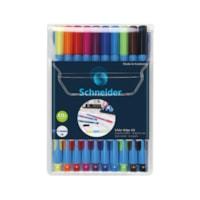 Schneider Slider Edge Ballpoint Pens, Assorted Colours, Extra Broad, 10/PK