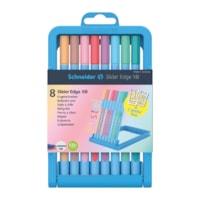 Schneider Slider Edge Pastel Ballpoint Pen, Assorted Pastel Colours, Extra Broad, 8/PK