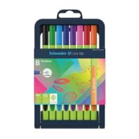 Schneider Line-Up Fineliner Felt-Tip Pens, Assorted Colours, 0.4 mm, 8/PK