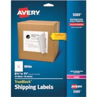 Avery® Shipping Labels, TrueBlock(R) Technology, Permanent Adhesive, 8-1/2