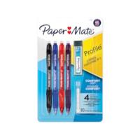 Paper Mate Profile Mech, mine de crayon HB n ° 2 de 0,7 mm, couleurs de corps assorties, emb. de 4