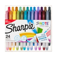 Sharpie S-Note Creative Highlighting Markers, Assorted Colours, Chisel Tip, 24/PK