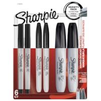 Marqueurs permanents Sharpie, Black, 6/PK