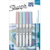 Sharpie Mystic Gem Special Edition Permanent Markers, Ultra Fine Tip, Assorted Colours, 5/PK